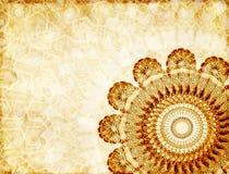 Предпосылка Grunge с бумажной текстурой и флористический орнамент в Moro Стоковое Изображение RF