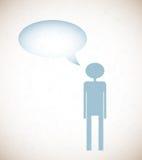 Предпосылка Grunge с людьми и говорит пузырь бесплатная иллюстрация