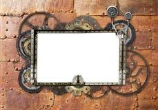 Предпосылка Grunge с металлической рамкой Стоковые Фото