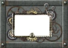 Предпосылка Grunge с металлической рамкой Стоковые Изображения RF