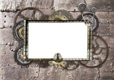 Предпосылка Grunge с металлической рамкой Стоковое Изображение