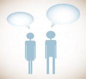 Предпосылка Grunge с человеком и женщинами бесплатная иллюстрация