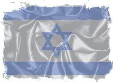 Предпосылка Grunge флага Израиля Silk Стоковое Фото