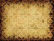 Предпосылка Grunge флористическая Стоковые Изображения