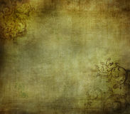 Предпосылка Grunge флористическая Стоковое фото RF