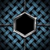 Предпосылка Grunge шестиугольника дела Стоковое фото RF