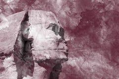Предпосылка grunge aquarelle головного сфинкса египетская Стоковая Фотография RF