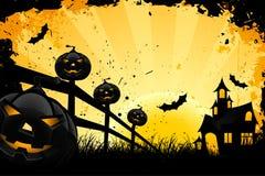 предпосылка grungy halloween Стоковые Изображения RF