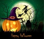 Предпосылка Halloween пугающая Стоковые Фото