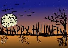 предпосылка halloween счастливый Стоковое Изображение RF