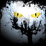 Предпосылка Halloween с страшный глазами иллюстрация штока