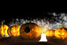 Предпосылка Halloween - 3D Стоковые Изображения