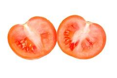 предпосылка halves белизна томата Стоковое фото RF