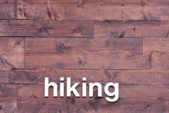 предпосылка hiking деревянное пем белое Стоковое Изображение RF
