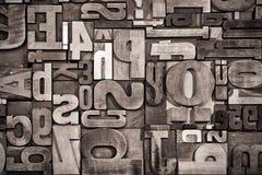 Предпосылка Letterpress, винтажный обрабатывать стоковое фото