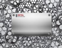Предпосылка Metall с шестернями Стоковое Изображение
