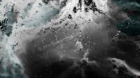 Предпосылка moving monochrome абстрактных частиц Однокрасочная абстрактная предпосылка с объектами bokeh Реальный падать Стоковое Фото
