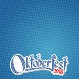 Предпосылка 2018 Oktoberfest с сине-белой checkered картиной иллюстрация вектора