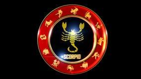 предпосылка scorpio зодиака стоковые фото