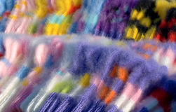 предпосылка socks шерсти Стоковая Фотография RF