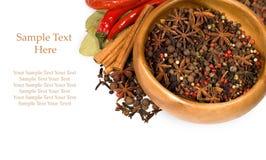 предпосылка spices белизна Стоковое Изображение