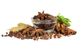 предпосылка spices белизна Стоковые Фото
