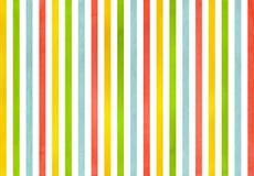 Предпосылка striped акварелью Стоковая Фотография RF