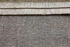 Предпосылка Thatched крыши Стоковое Изображение