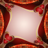 Предпосылка Valentines с сердцами Стоковое фото RF