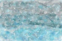 Предпосылка watercolour конспекта неба Snowy Стоковые Фотографии RF