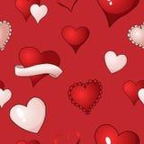 Предпосылки картины вектора сердец валентинок краска ткани безшовной повторяющийся иллюстрация вектора