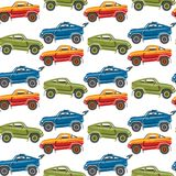 Предпосылки картины вектора транспорт автомобиля безшовной роскошный детализировал дизайн перехода автоматического дела Стоковая Фотография