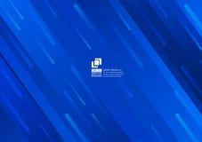 Предпосылки конспекта геометрических элементов дизайн голубой современный иллюстрация вектора