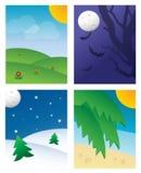 предпосылки сезонные Стоковая Фотография RF