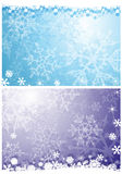 Предпосылки снежинок Стоковые Фотографии RF