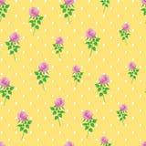 Предпосылки точки польки розы пинка картина цифровой бумажной безшовная Стоковые Фото