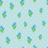 Предпосылки точки польки розы сини картина цифровой бумажной безшовная Стоковые Фотографии RF