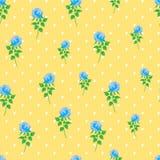 Предпосылки точки польки розы сини картина цифровой бумажной безшовная Стоковое Изображение