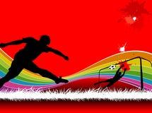 Предпосылки футбола Стоковая Фотография