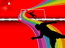 Предпосылки футбола Стоковое Фото