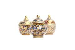 предпосылки bowl белизна конструкции тайская Стоковая Фотография RF