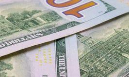 100 предпосылок доллара Фото крупного плана денег наличных денег Предпосылка валюты Стоковая Фотография