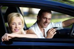предприниматели автомобилей счастливые Стоковые Изображения RF