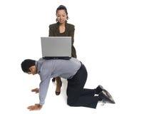 Предприниматели - невольник офиса Стоковые Фото