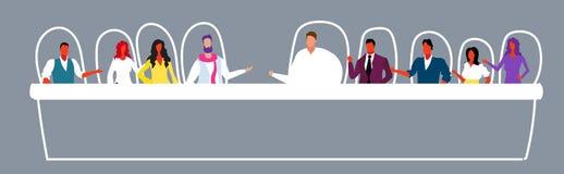 Предприниматели обсуждая во время тренируя бизнесменов женщин людей  иллюстрация штока