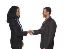 Предприниматели - приветствие рукопожатия Стоковая Фотография RF