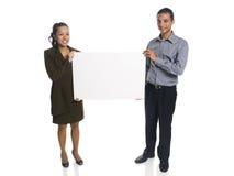 Предприниматели - пустой знак Стоковые Изображения
