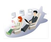 предприниматели самолета Стоковая Фотография RF