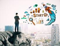 Предприниматель и концепция запуска стоковое изображение rf