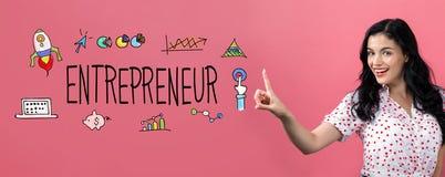 Предприниматель с молодой женщиной стоковое изображение